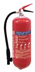 Πυροσβεστήρας 6Kg Ξηράς Σκόνης ABC 40% με Μονόραφο Δοχείο και Κλείστρο με Βαλβίδα Ασφαλείας Μανομέτρου - ΣΥΜΠΕΡΙΛΑΜΒΑΝΕΤΑΙ ΜΕΤΑΛΛΙΚΗ ΒΑΣΗ