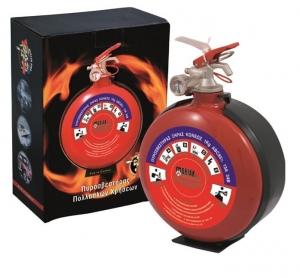 Πυροσβεστήρας Tύπου Φλασκί 1Κg Ξηράς Σκόνης ABC 85% (συνοδεύεται από ειδική πλαστική βάση). Κατάλληλος για χρήση σε αυτοκίνητα και σκάφη. Ιδανικός για δώρο