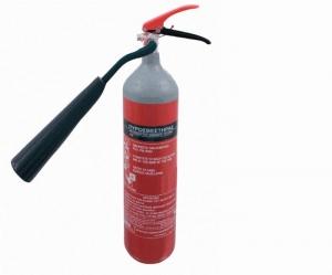 Πυροσβεστήρας CO2, 2Kg, έξοδος από το πλάι.  Υψος Δοχείου: 520 mm.  > ΣΥΜΠΕΡΙΛΑΜΒΑΝΕΤΑΙ ΜΕΤΑΛΛΙΚΗ ΒΑΣΗ